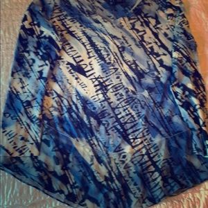 ND EUC tunic tie dyed with sparkles!